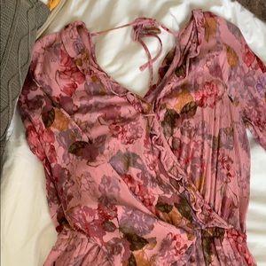 Target Brand Pink Long Sleeve Romper